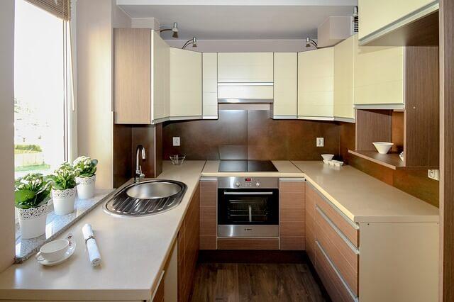 ビルトイン食洗機を置ける広いキッチン