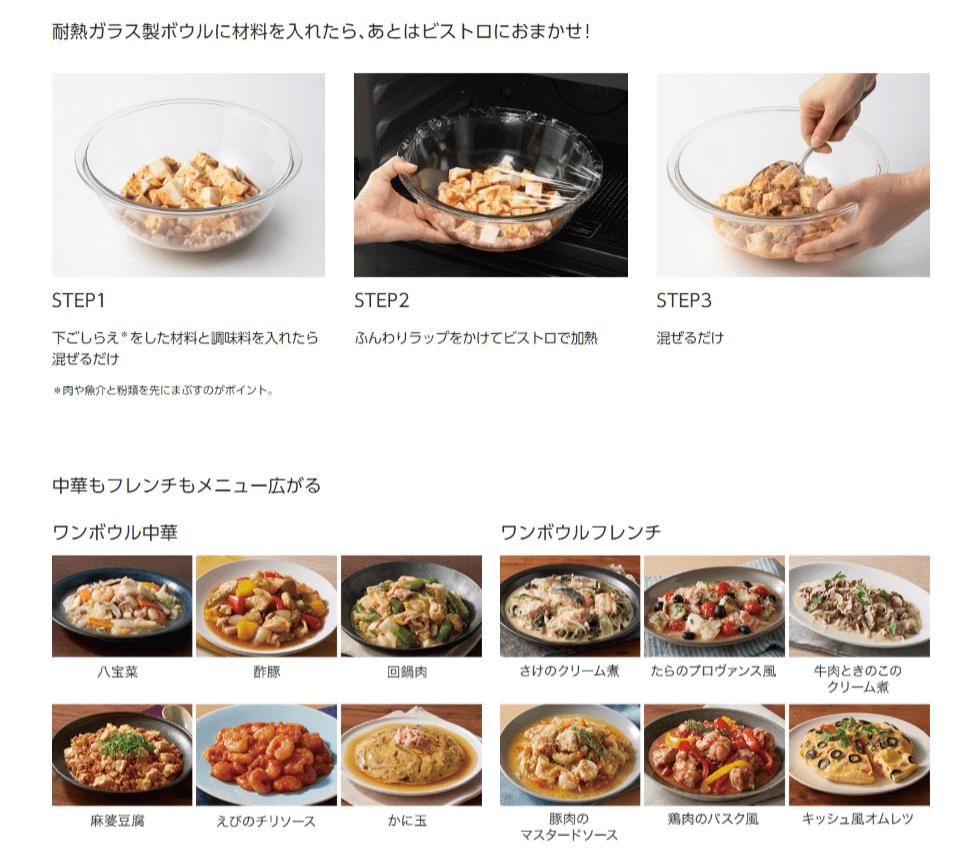 ビストロの「ワンボウル中華」「ワンボウルフレンチ」のレシピ