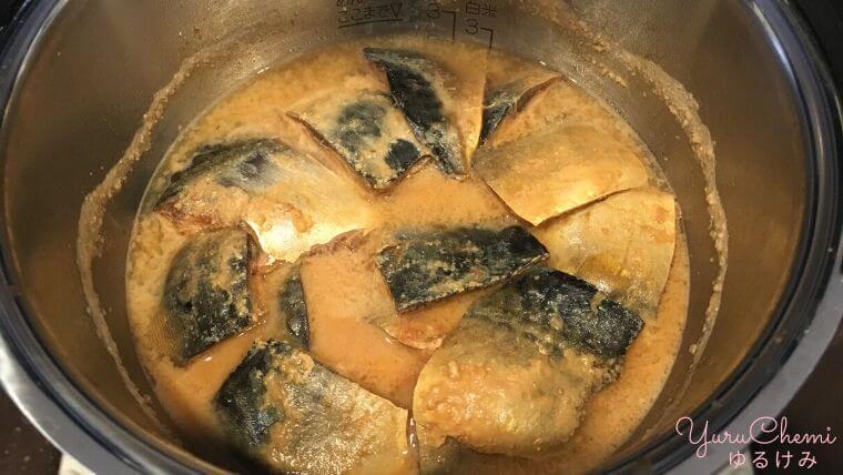 サバの味噌煮も火加減いらない