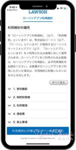 アプリへの同意画面