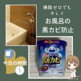 【お風呂の黒カビ防止】置くだけでカンタン「防カビくん煙剤」が便利