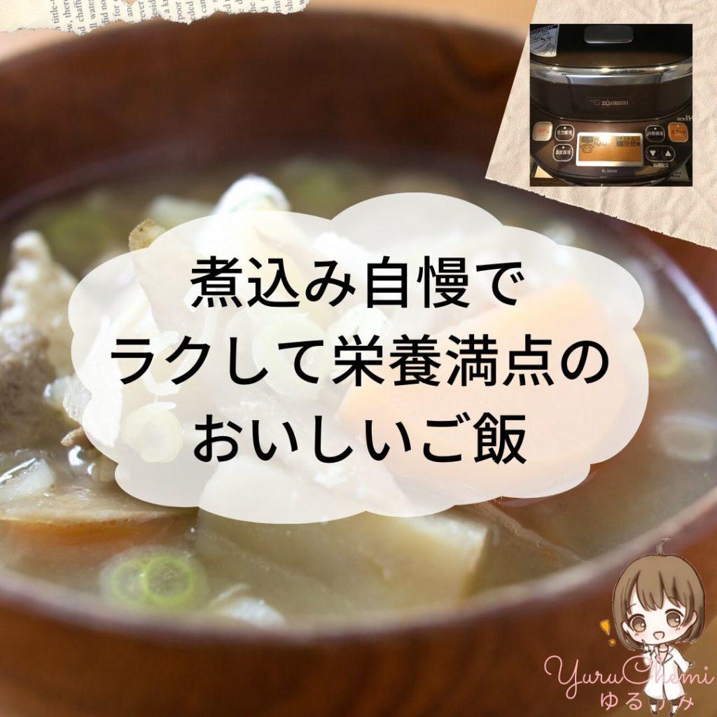 まとめ:煮込み自慢でラクして使用満点のおいしいご飯