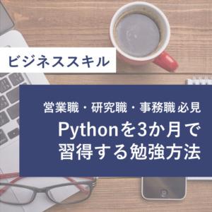 Pythonを3か月で習得する勉強方法