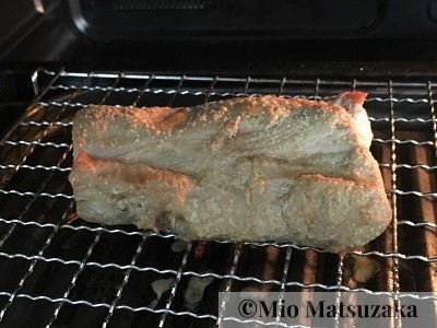 ヘルシオのレシピ 豚バラブロックを水で焼いた後 焼豚の完成